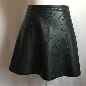 Jessica Simpson Faux leather Black Mini Skirt